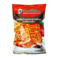 Rice Crust With Chili Sauce And Flossy Pork Puengngeechiang